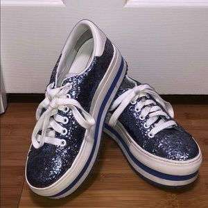 Marc Jacobs glitter platform sneaker